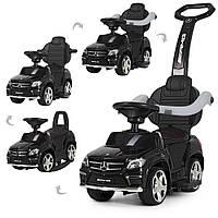 Каталка-толокар M 3186 L-2, Mercedes-Benz, кожаное сиденье, черный
