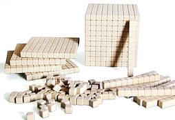 """Математичний куб, Набір """"Одиниці об'єму"""", дерево, 121 частини"""