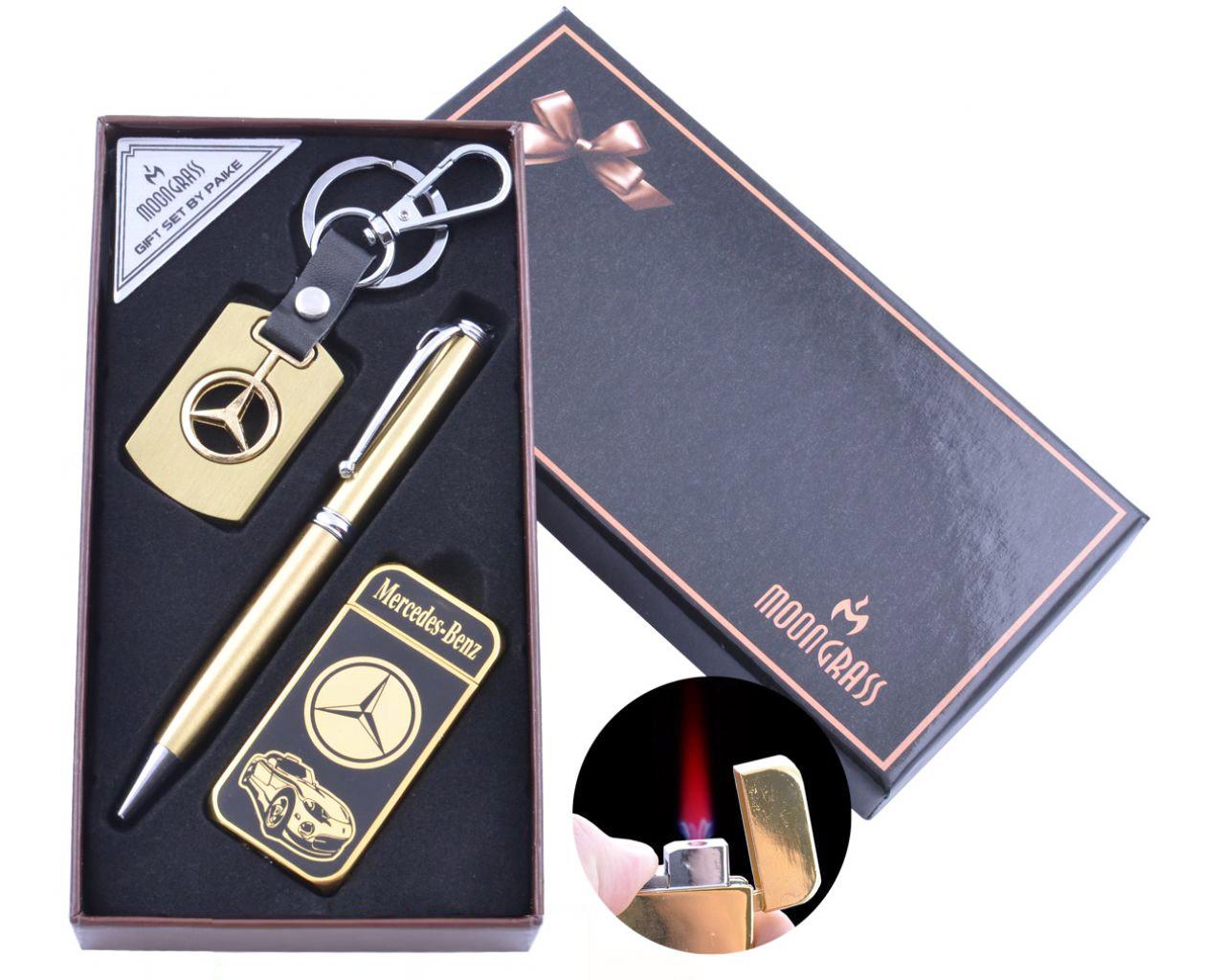 Подарочный набор с ручкой, зажигалка и брелком для ключей Moongrass