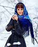 Признание 1462-14, павлопосадский платок шерстяной  с шелковой бахромой, фото 9