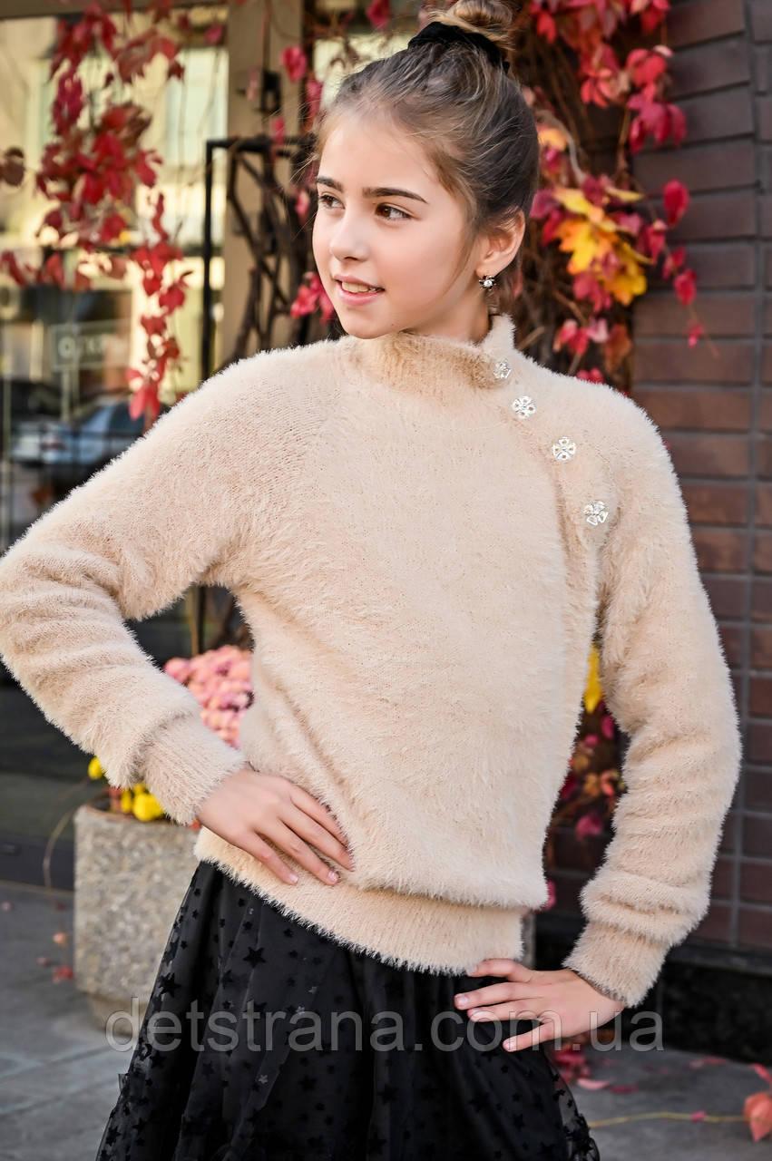 Детские вязанные свитера для девочки