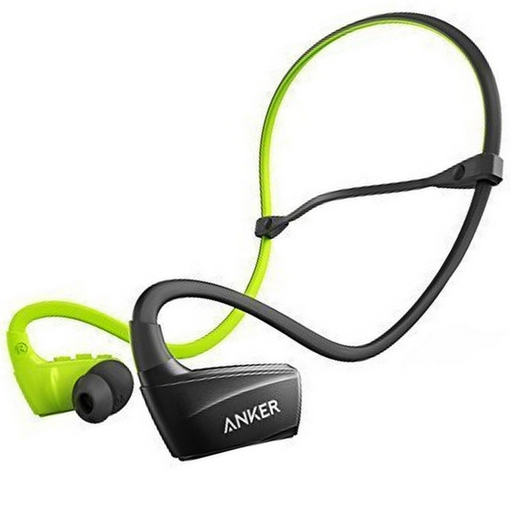 Наушники Bluetooth Anker SoundBuds Sport NB10 (Black/Green)