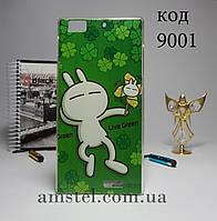 Чехол для Lenovo k900 панель накладка зеленая жизнь