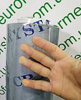 Пленка силиконовая пвх на метраж 400 мкм (0,4 мм), ширина 1,37 м.Гибкое стекло.