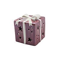 LED Декор Подарок бордовый 7см 109283