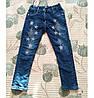 Теплі джинси для дівчаток на махре.