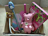 Подарунковий набір Viola щоденник недатований ведмедик цукерки Равлик Боб