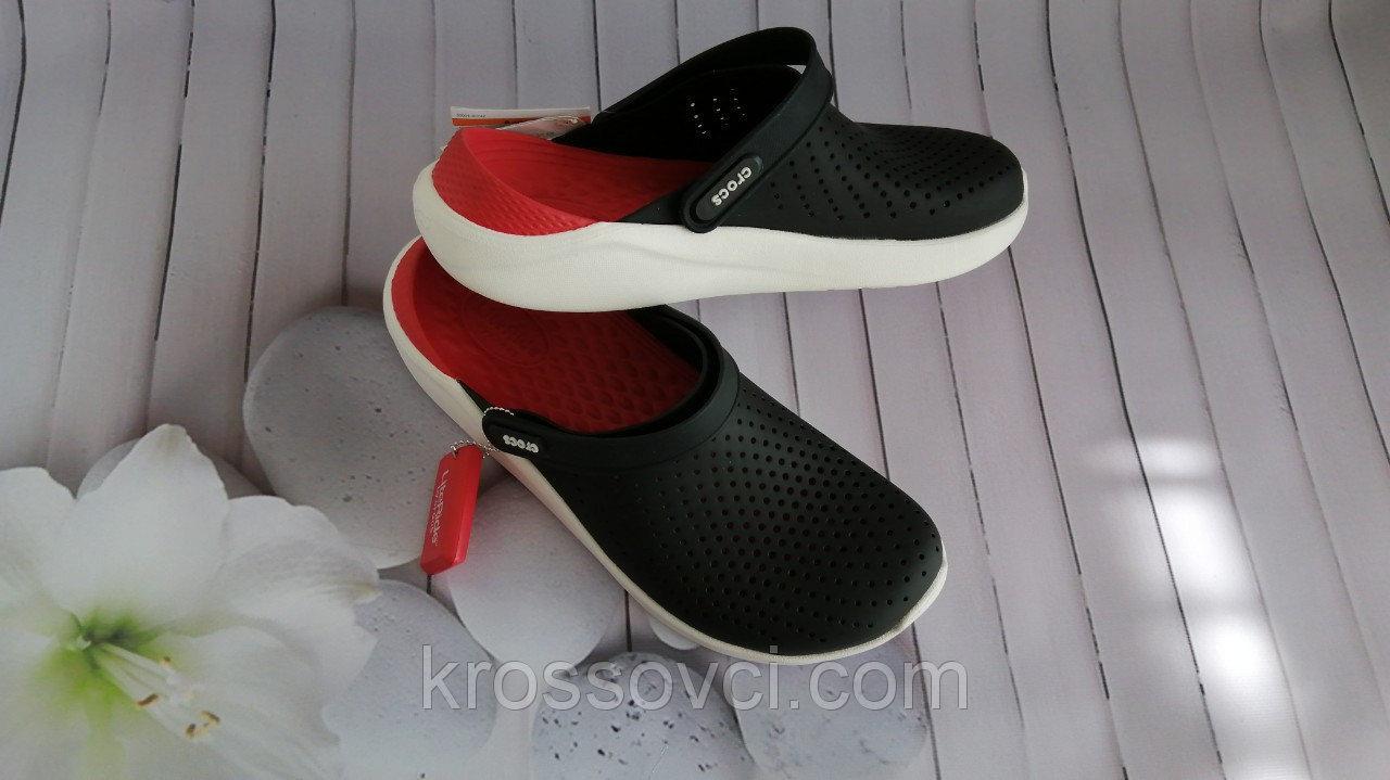 Кроксы летние Crocs LiteRide™ Clog черные 36 разм.