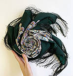 Соловушка 1893-10, павлопосадский платок шерстяной  с шелковой бахромой, фото 10