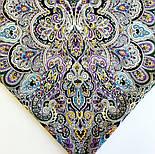 Соловушка 1893-10, павлопосадский платок шерстяной  с шелковой бахромой, фото 5