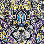 Соловушка 1893-10, павлопосадский платок шерстяной  с шелковой бахромой, фото 3