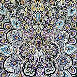 Соловушка 1893-10, павлопосадский платок шерстяной  с шелковой бахромой, фото 7