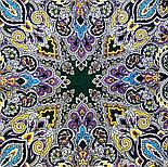 Соловушка 1893-10, павлопосадский платок шерстяной  с шелковой бахромой, фото 9