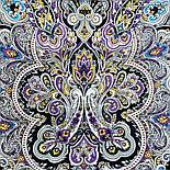 Соловушка 1893-10, павлопосадский платок шерстяной  с шелковой бахромой, фото 8