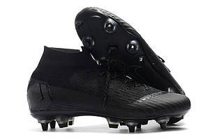Бутсы с носком Nike Mercurial Superfly VI Elite SG AC Black