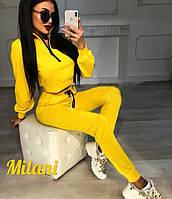 Женский спортивный костюм с укороченной кофтой Хит сезона