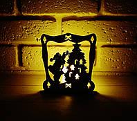 Подсвечник дед мороз со свечей светяшка новогодняя подарок