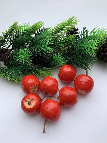 Яблочки декоративные, красные ( 4 см), фото 2