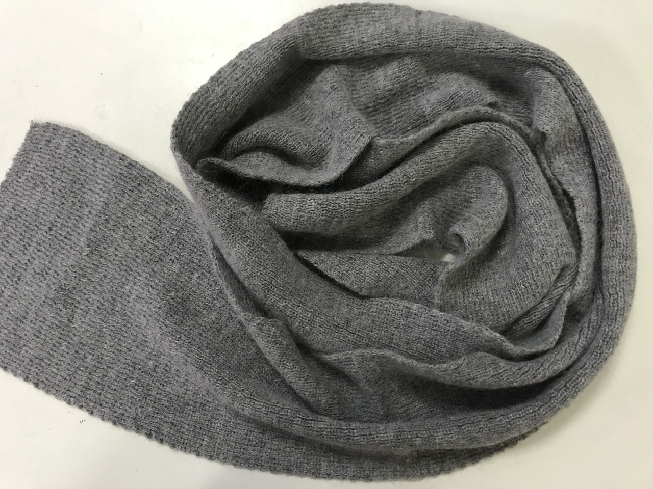 Женский зимний  шарф из ангоры цвет темно серый