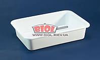 Лоток харчової №0 білий пластиковий 25,5х18х5,5см прямокутний без кришки Ал-Пластик