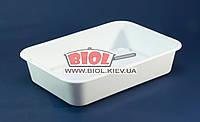 Лоток харчової №1 білий пластиковий 30х21,5х6,5см прямокутний без кришки Ал-Пластик