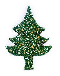 Новогодняя подушка декоративная Елка зеленая 60 см