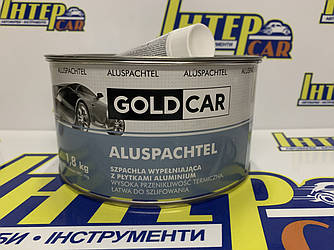 Шпатлевка GOLD CAR ALU с частицами алюминия 1,8 кг