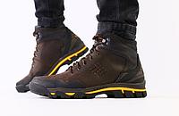 Ботинки Colambia мужские зимние коричневые из натуральной кожи, фото 1