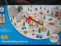 Деревянная железная дорога в горах 112 элементов Bigjigs Rail Великобритания, фото 1