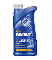 Моторное масло MANNOL Favorit 15W-50 1л