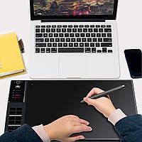 """Большой графический планшет GIANO WH1409 HUION, 14"""" 8ГБ встроенный аккумулятор (04285)"""