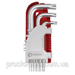 Набор Г-образных ключей TORX 9 шт Intertool  HT-1821