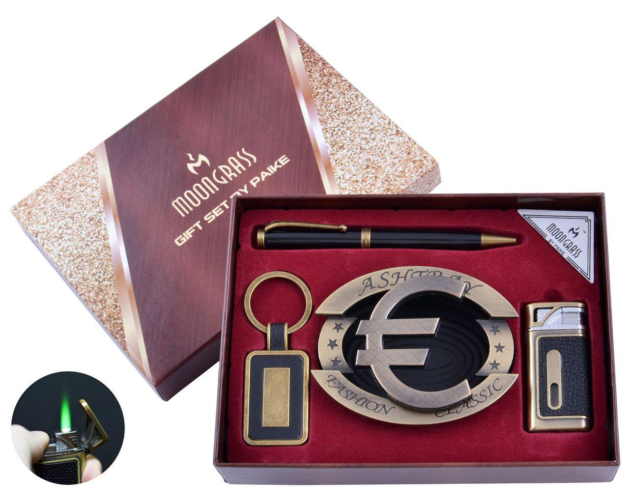 Подарочный набор c пепельницей, зажигалкой, ручкой и брелком Moongrass 4в1