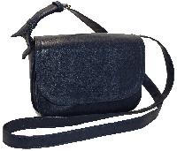 Синяя маленькая сумка через плечо из искусственной кожи