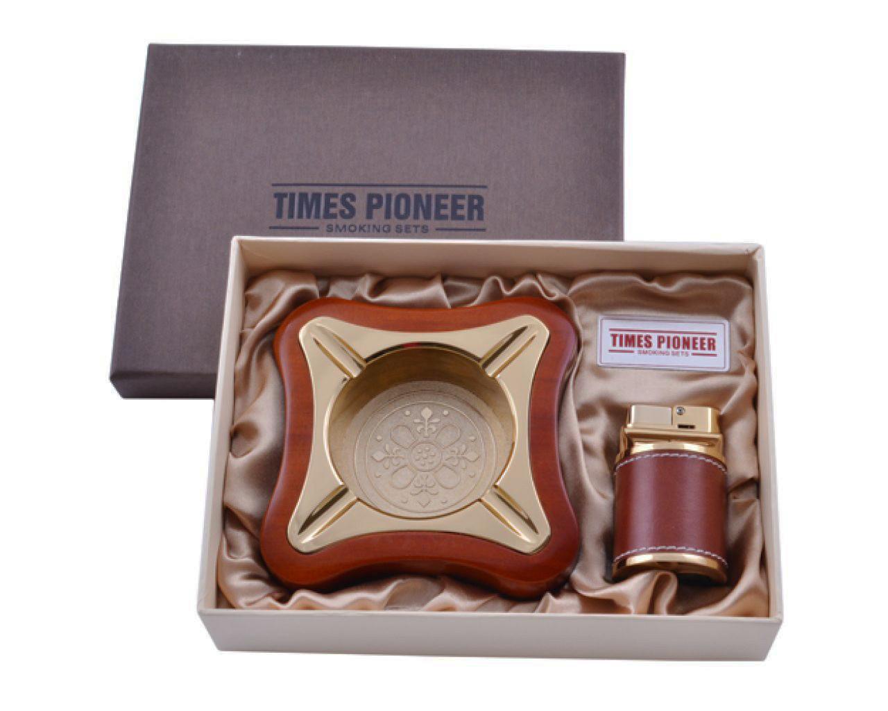 Подарочный набор c пепельницей и зажигалкой Pioneer