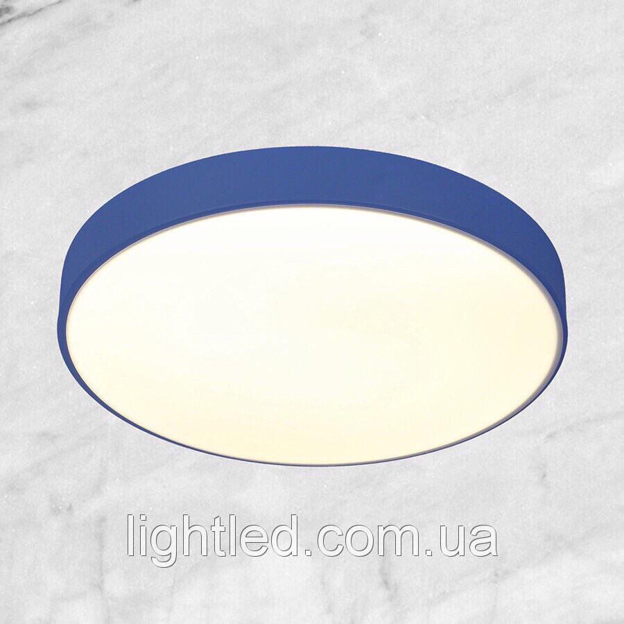 Светодиодная потолочная люстра с пультом (синяя 40см)