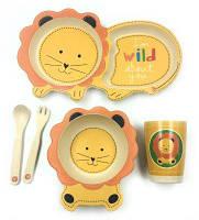 Набор детской посуды из бамбука «Лев» (5 предметов)