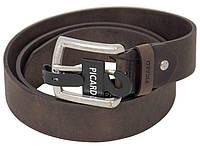 Ремень мужской Picard Belt 4 Black Chocolate 124х4 см