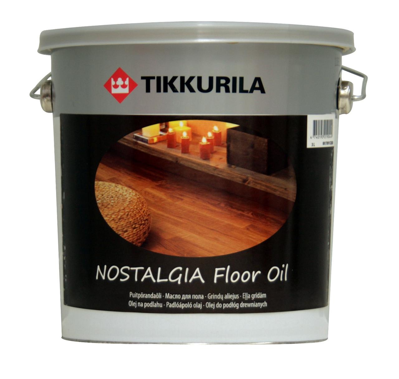 Масло для пола Nostalgia Floor Oil, Тиккурила (Tikkurila), 3л