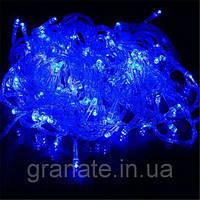 Уличная гирлянда светодиодная Нить, цвет: синий 10 м, черный провод