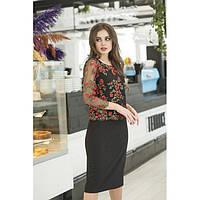Красивое женское платье с вышивкой 34422