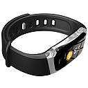 Фитнес браслет с измерением пульса и давления Smart band E18 silver-black, фото 2