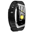 Фитнес браслет с измерением пульса и давления Smart band E18 silver-black, фото 3