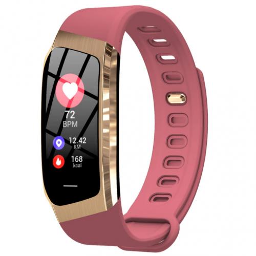 Фитнес браслет с измерением пульса и давления Smart band E18 pink