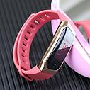 Фитнес браслет с измерением пульса и давления Smart band E18 pink, фото 2