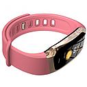 Фітнес браслет з вимірюванням пульсу і тиску Smart band E18 pink, фото 3