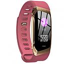 Фітнес браслет з вимірюванням пульсу і тиску Smart band E18 pink, фото 4