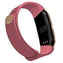 Фитнес браслет с измерением пульса и давления Smart band E18 pink, фото 5