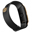 Фитнес браслет с измерением пульса и давления Smart band E18 gold-black, фото 5