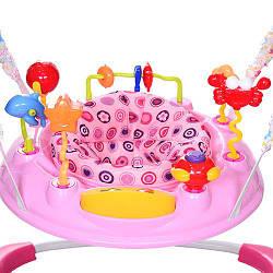 Детский прыгунок розовый Bambi BC01-8 музыкальный для девочки